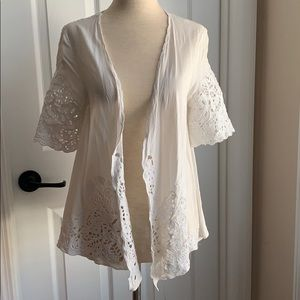 White O'Neill cover up top, NWT, Sz S